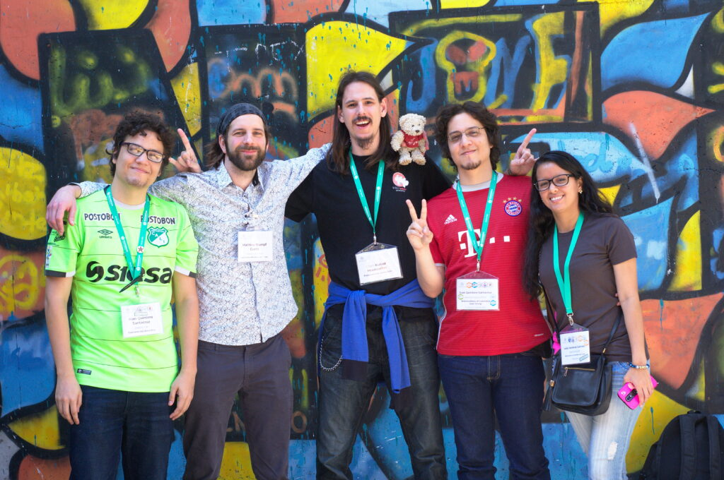 Grupa foto de la Prepara komision de Esperanto kaj Libera Scio dum la Vikimedia konferenco 2018